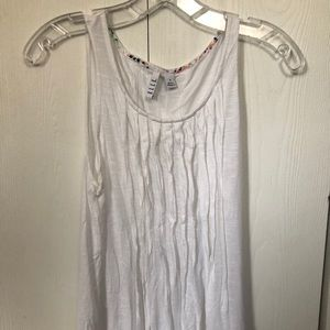 ELLE white ruched tank